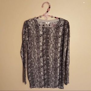 Joie grey snakeskin pattern sweater size XS